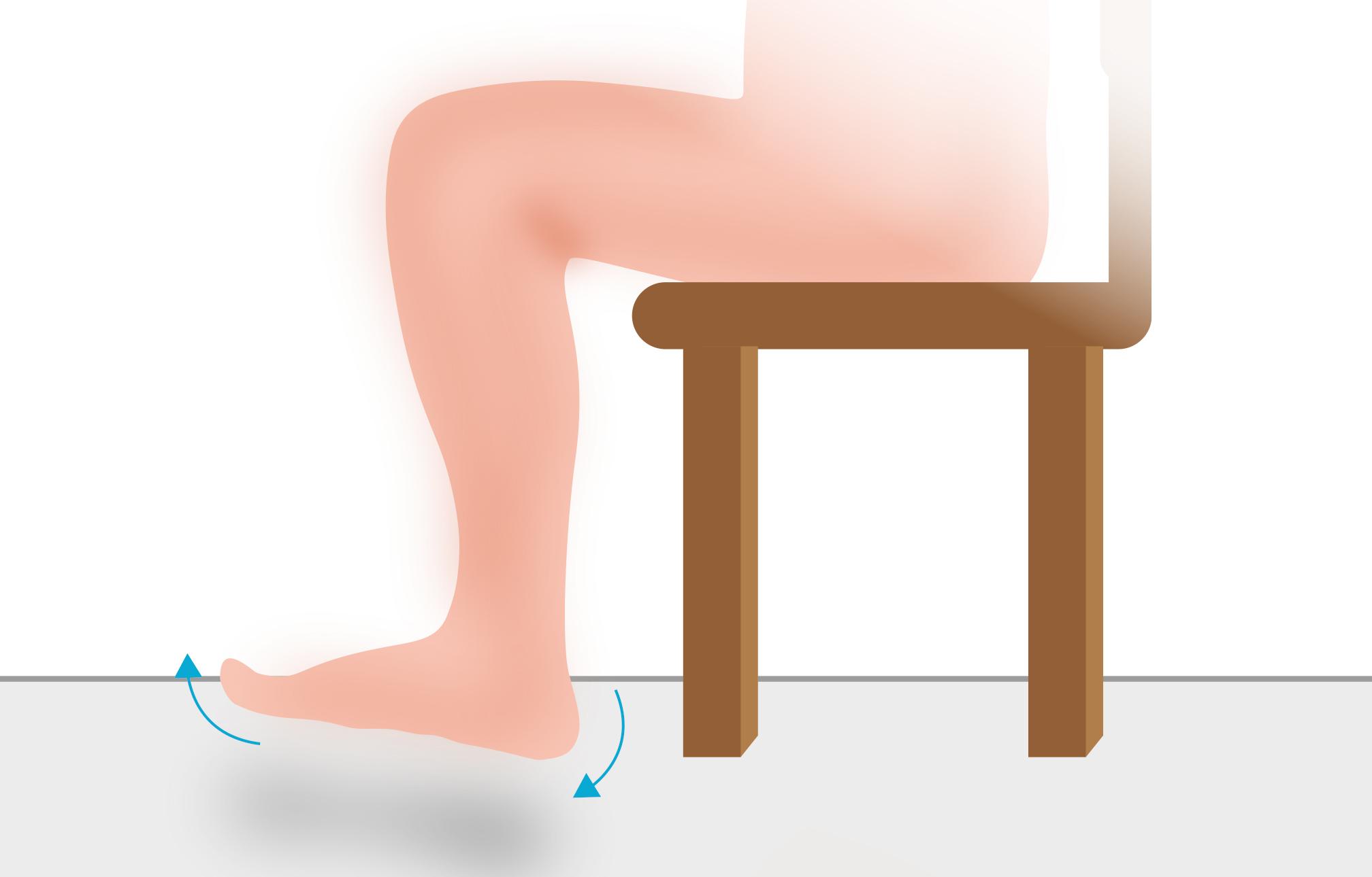 Fußwippe-Thromboseübung Schritt 1