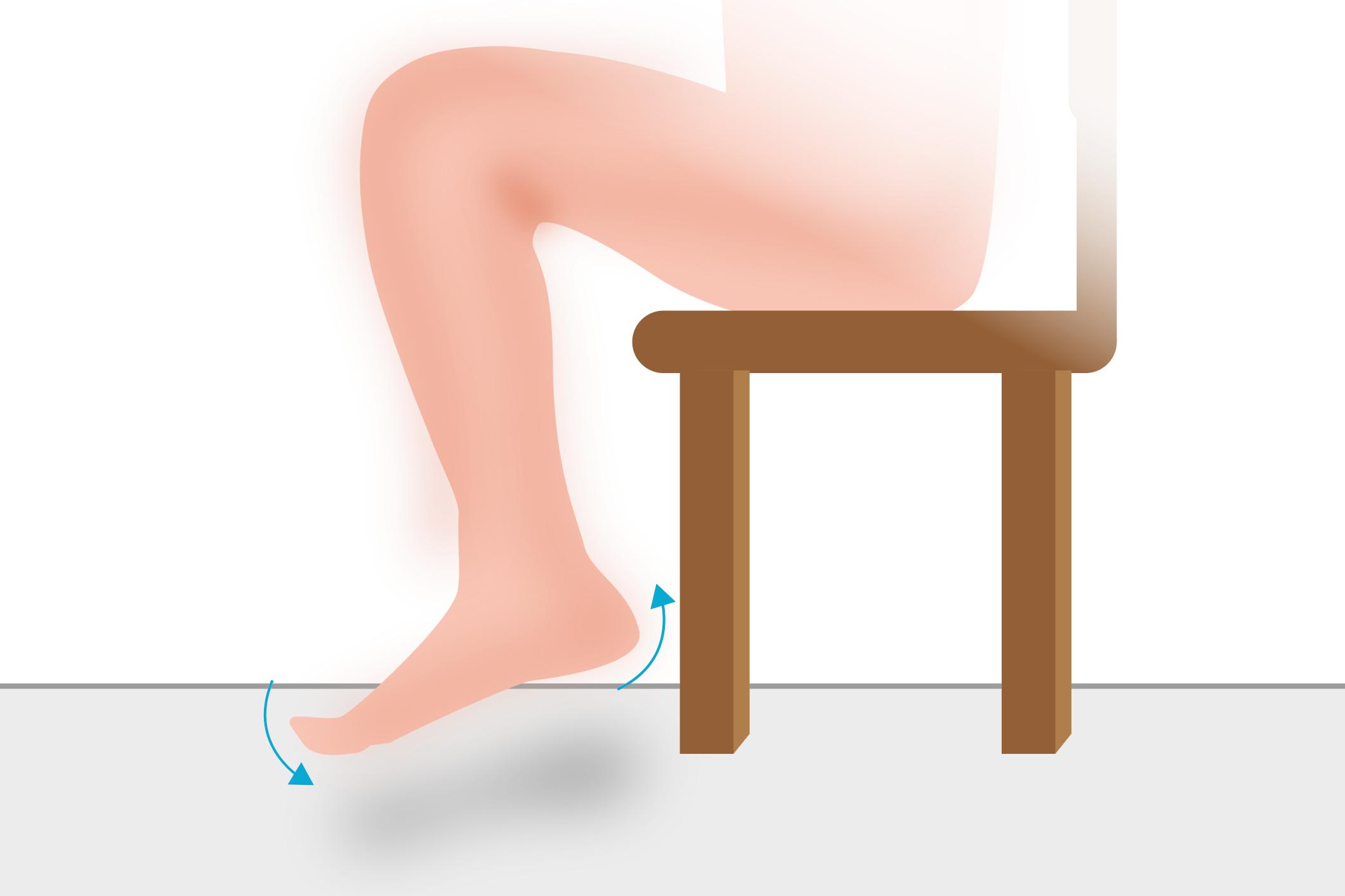 Fußwippe-Thromboseübung Schritt 2